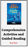 comprehension activities for A Candle in the Dark by Adele Geras