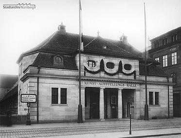 Die Kunstausstellungshalle am Marientor (Fränkische Galerie) in Nürnberg 1913 (Stadtarchiv Nürnberg A 38 Nr. A38-B-76-16).