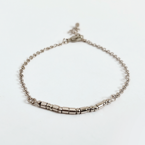 The Morse Code Anklet: Silver
