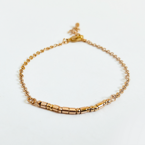 The Morse Code Anklet: Gold