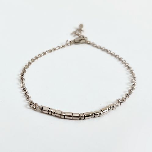 The Morse Code Bracelet: Silver