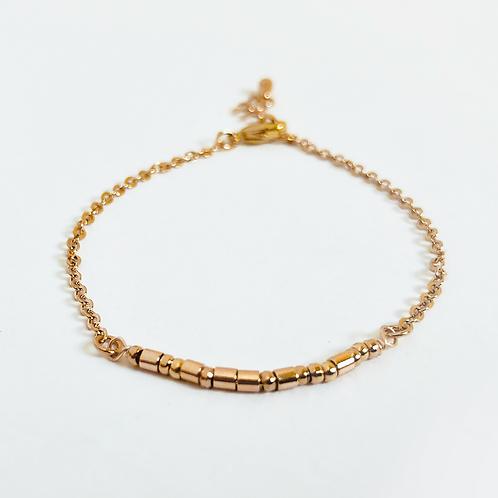 The Morse Code Bracelet: Gold