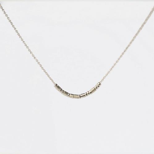 The Morse Code Necklace: Silver