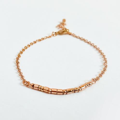 The Morse Code Bracelet: Rose Gold