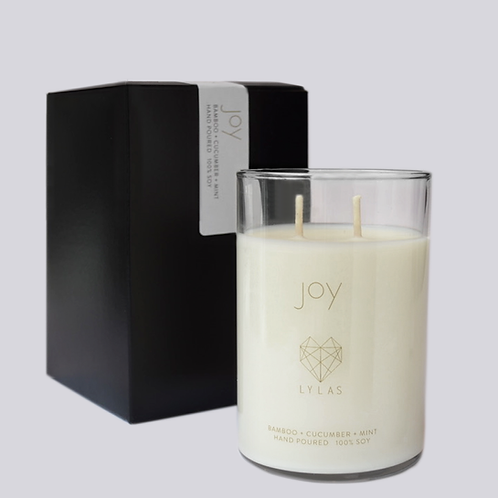 The Joy Candle: bamboo + cucumber + mint