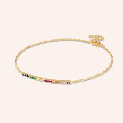 Rainbow Gem Bracelet