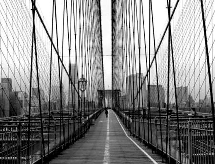 00059 Man on Brooklyn Bridge by ARTITECT
