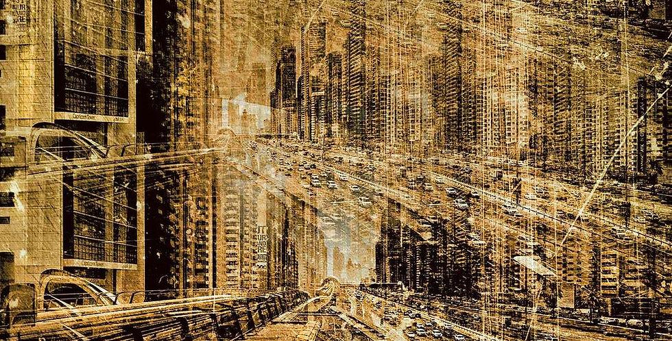 00042 The Gold Rush (Square) by Sandra Sachsen Hauser ARTITECT