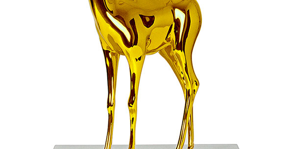 Yellow Bambi (Sculpture) by Paco Raphael