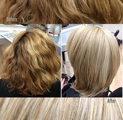 Blonde Color And Short Layered Cut