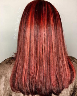 Red Highlights on a red base color