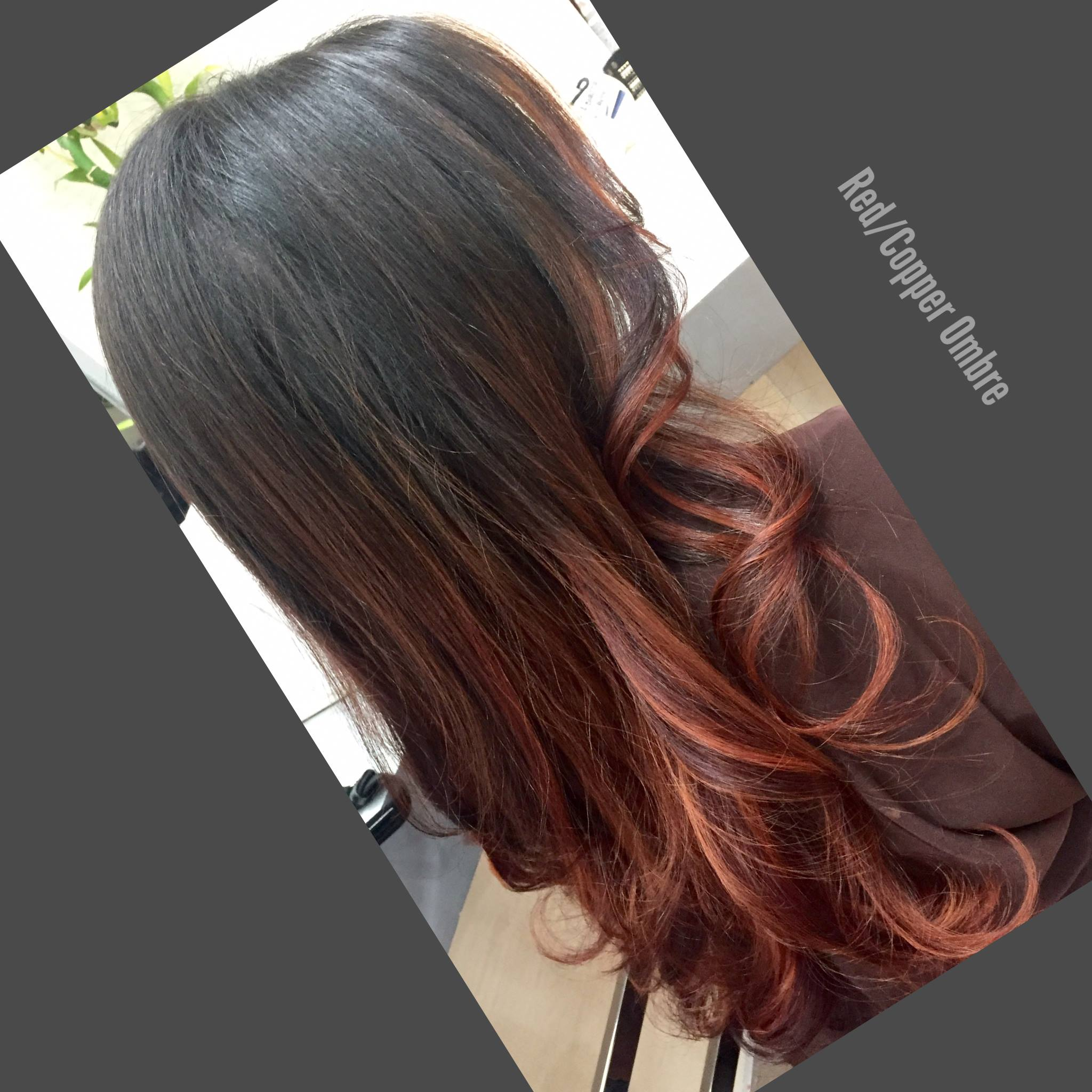 Red/Copper Ombre