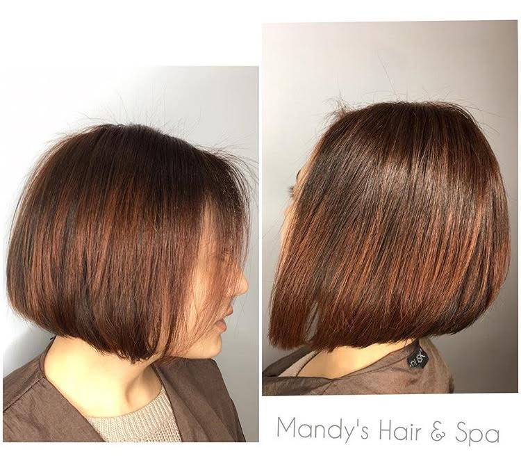 Bob Haircut & Copper-Red hair color