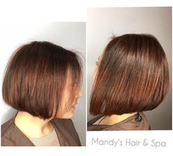 Bob Haircut & Copper-Red hair color
