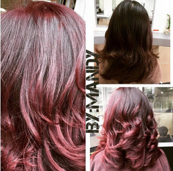Full Color Burgundy Red & Style