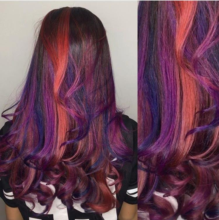 Purple, Red & Indigo Highlights