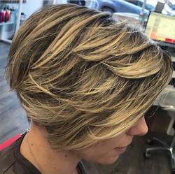Short Edgy Haircut & Balayage
