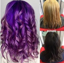 Purple Hair Transformation!
