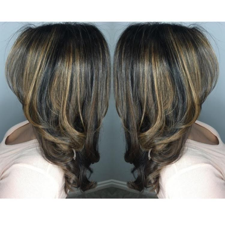 Caramel Balayage for Dark Hair