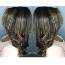 Caramel Balayage for Dark Hair