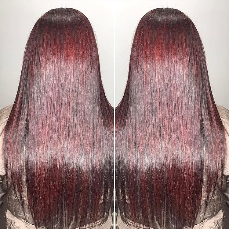 Beautiful Shiny Red Highlights