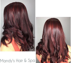 Red Hair coloring & Haircut/Style