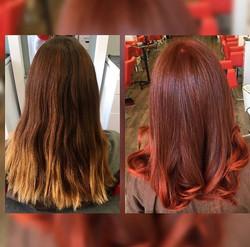 Reddish-Copper Hair