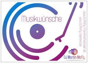 DJ HOCHZEIT GEBURTSTAG SAAR Musikwunschkarten www.DJMcFly-Saarland.de