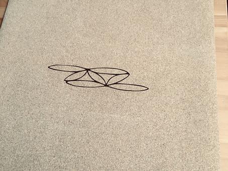 Yogamatte im Tanglium-Look