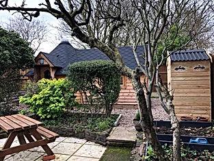 Wee Hooses Compost Loo in Garden