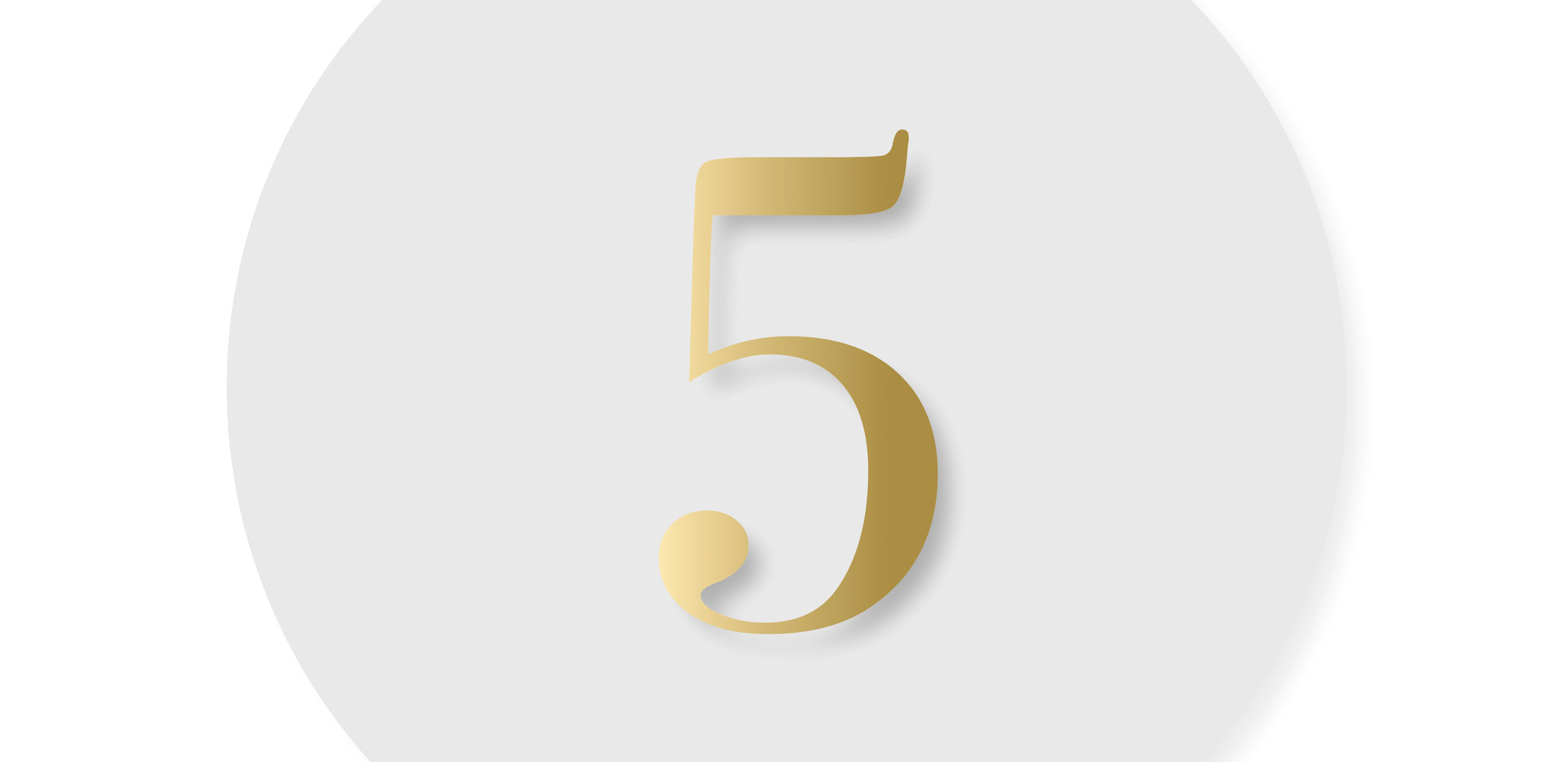 Acrylic Table Number I Gold