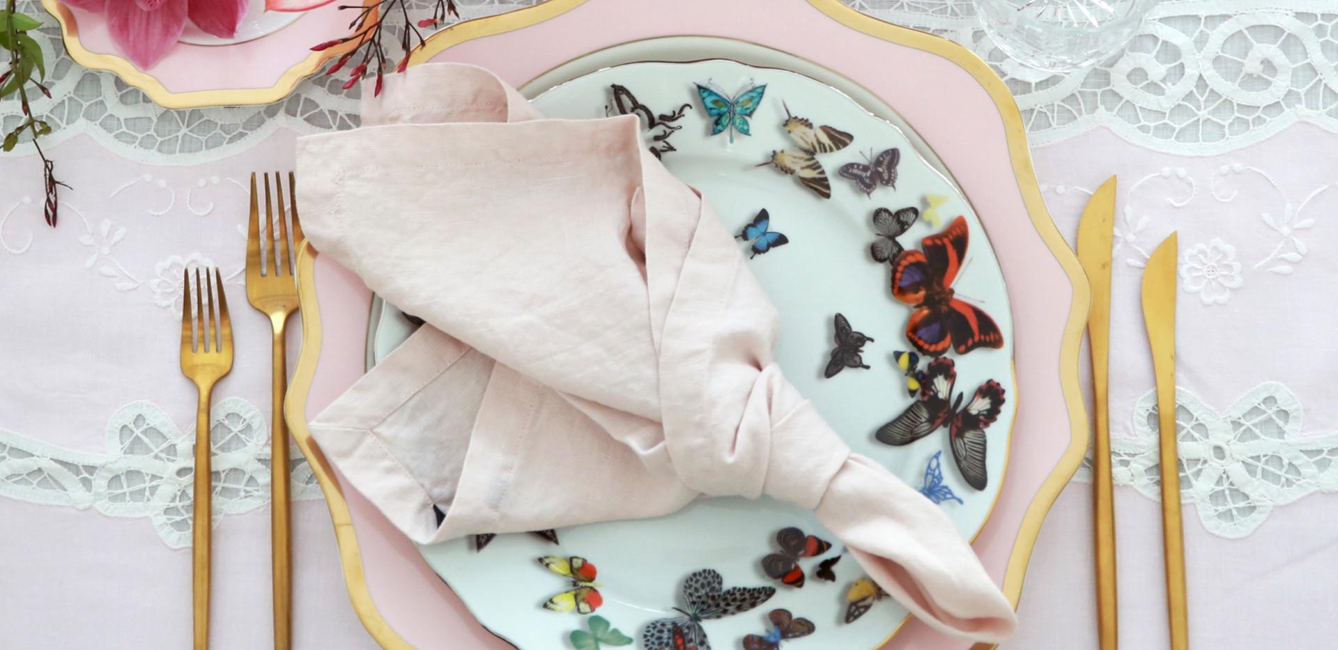 Hemstitched Napkins I Soft Pink