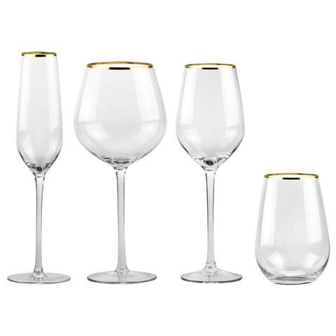 ROME GOLD RIM GLASSWARE