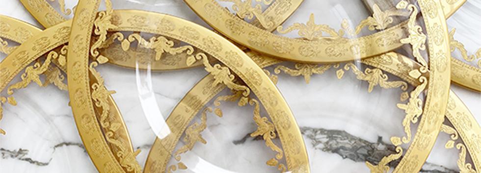 Vienna 24K Gold Glass