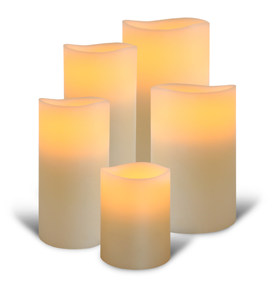 Ivory LED Pillar Candles