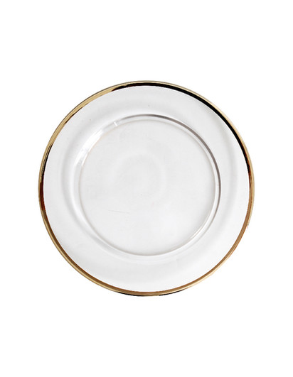 Crown Glass I Gold - Entree/Dessert