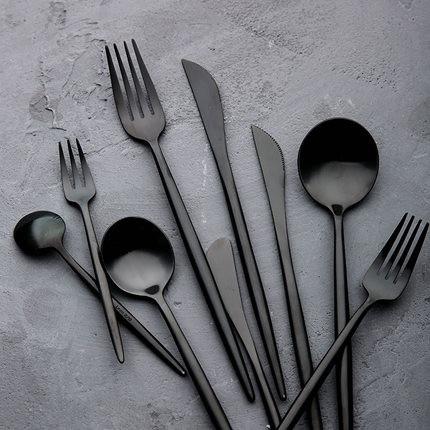 Milano I Fine Black Cutlery