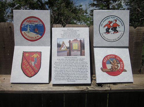 Set of 5 Red River Ski Patches On Canvas