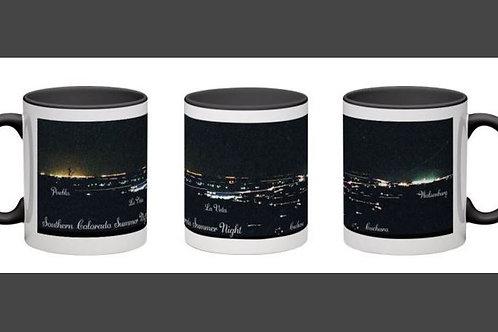 Night Lights of Southern Colorado Coffee Mug