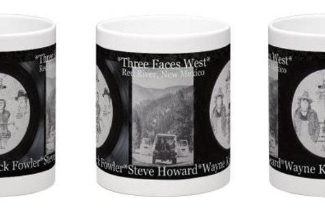 """Three Faces West #3- """"Holed Up"""" Album Art Back"""
