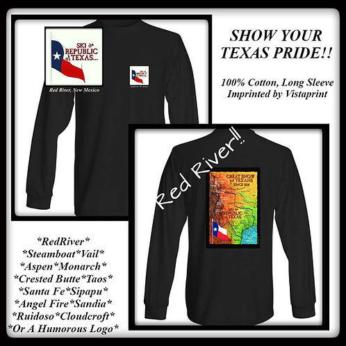Red River-Republic of Texas Ski Map Tee