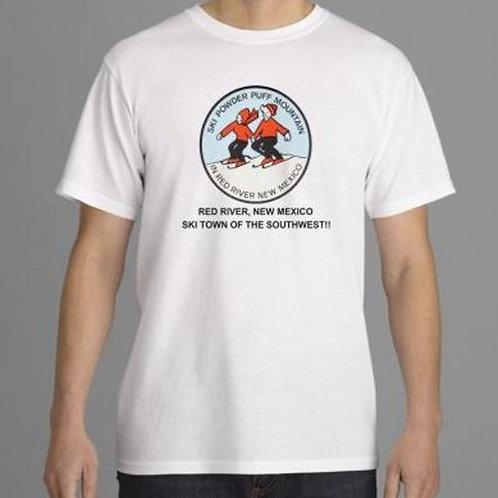 Powder Puff Mountain Logo- SS, White Tee
