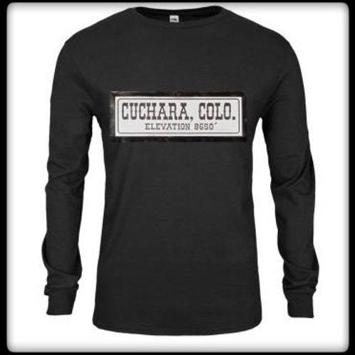 Cuchara Sign, Long Sleeve, Black Tee