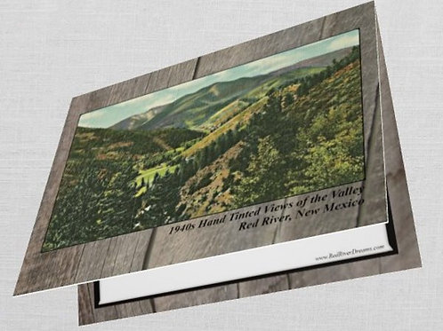 "#2- (10) Greeting Cards ""1940s Tinted Views of the Red River Valley"""