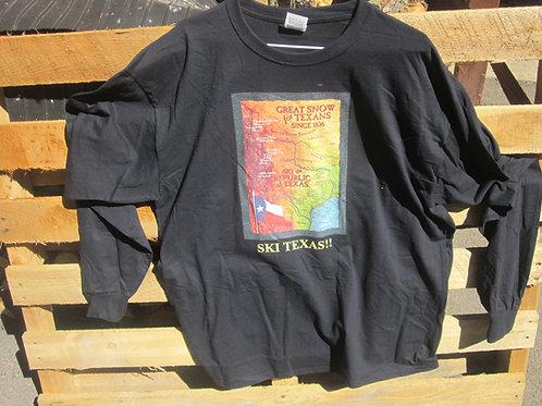 Republic of Texas Ski Map Tee- Ski Texas!!
