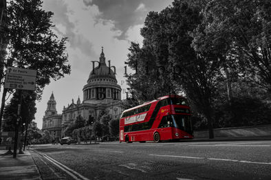 Double Decker Bus at St Paul's Cathedral