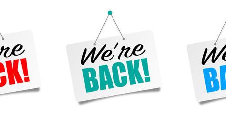 Wir sind wieder da...!!! Unsere Regeln und Schutzkonzept während COVID-19