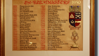 The Masters Roll Board 1868 – 1950 (Miniature)