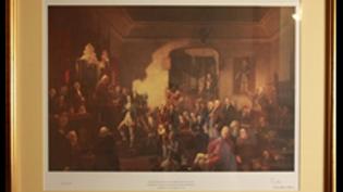 Inauguration of Robert Burns as Poet Laureate (Framed Print)