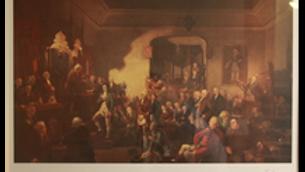 Inauguration de Robert Burns en tant que poète lauréat (imprimé)